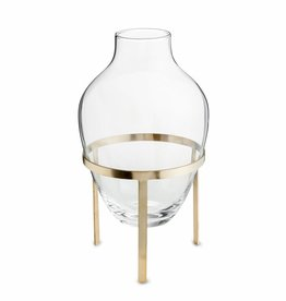 Nordstjerne Glass & Matt Brass stand Vase