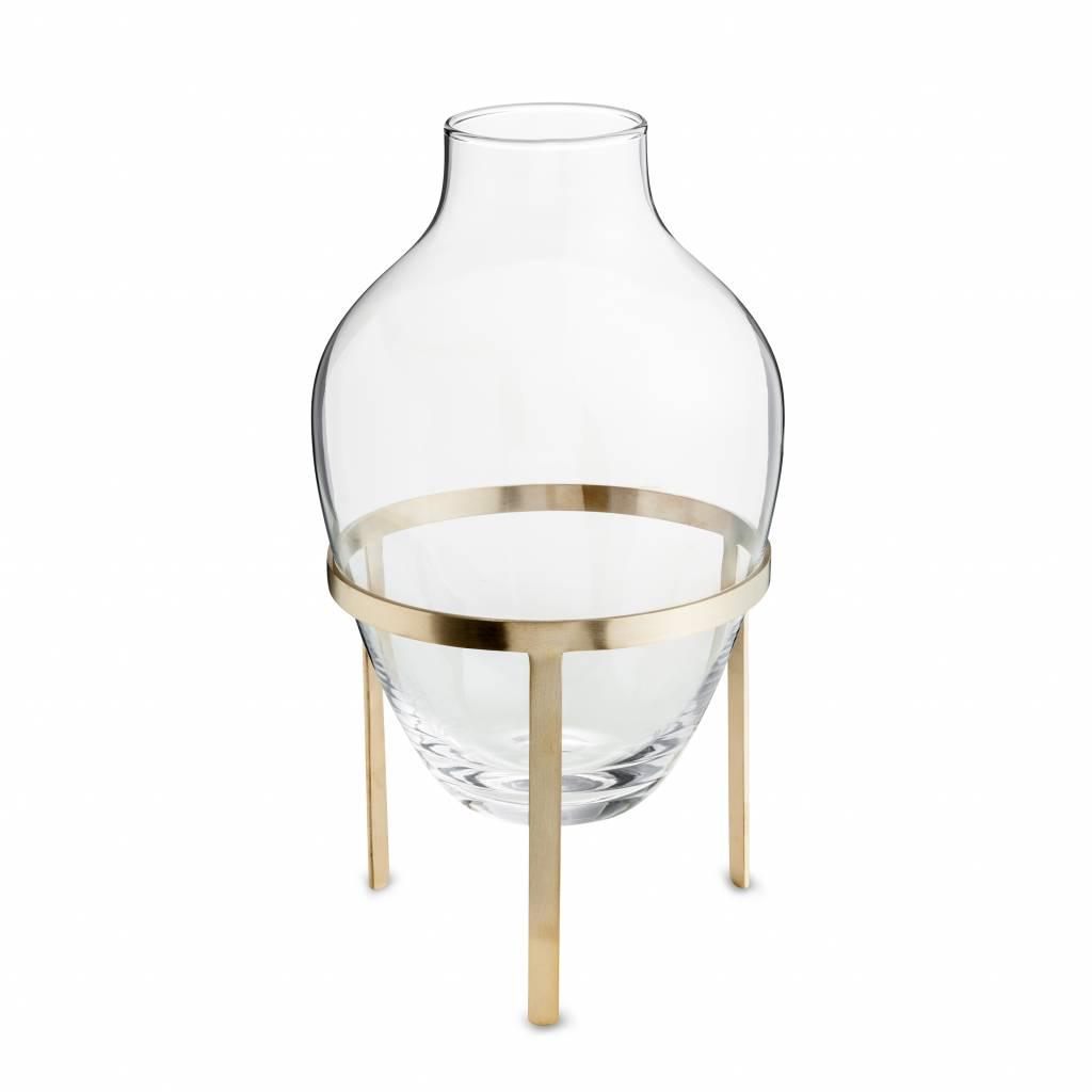 Nordstjerne Glass & Matt Brass Stand Vase