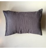 Linge Particulier  Linge Particulier Cushion Cover Grey Washed Linen 30x40 cm