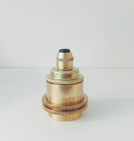 Brass E27 Lampholder