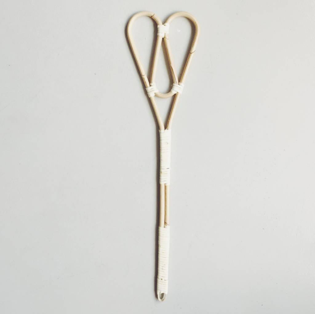 Heart Shaped Rattan Blanket Beater