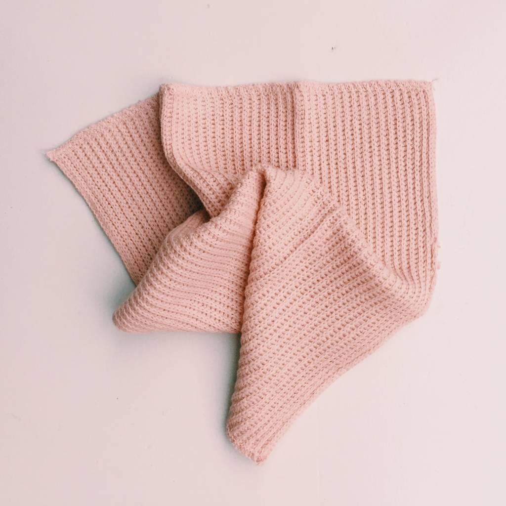Iris Hantverk Iris Hantverk Dusty Pink Cotton & Linen Dish Cloth