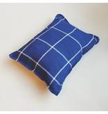 Linge Particulier  Linge Particulier Cushion Cover Tartan Blue Washed Linen 35x45 cm