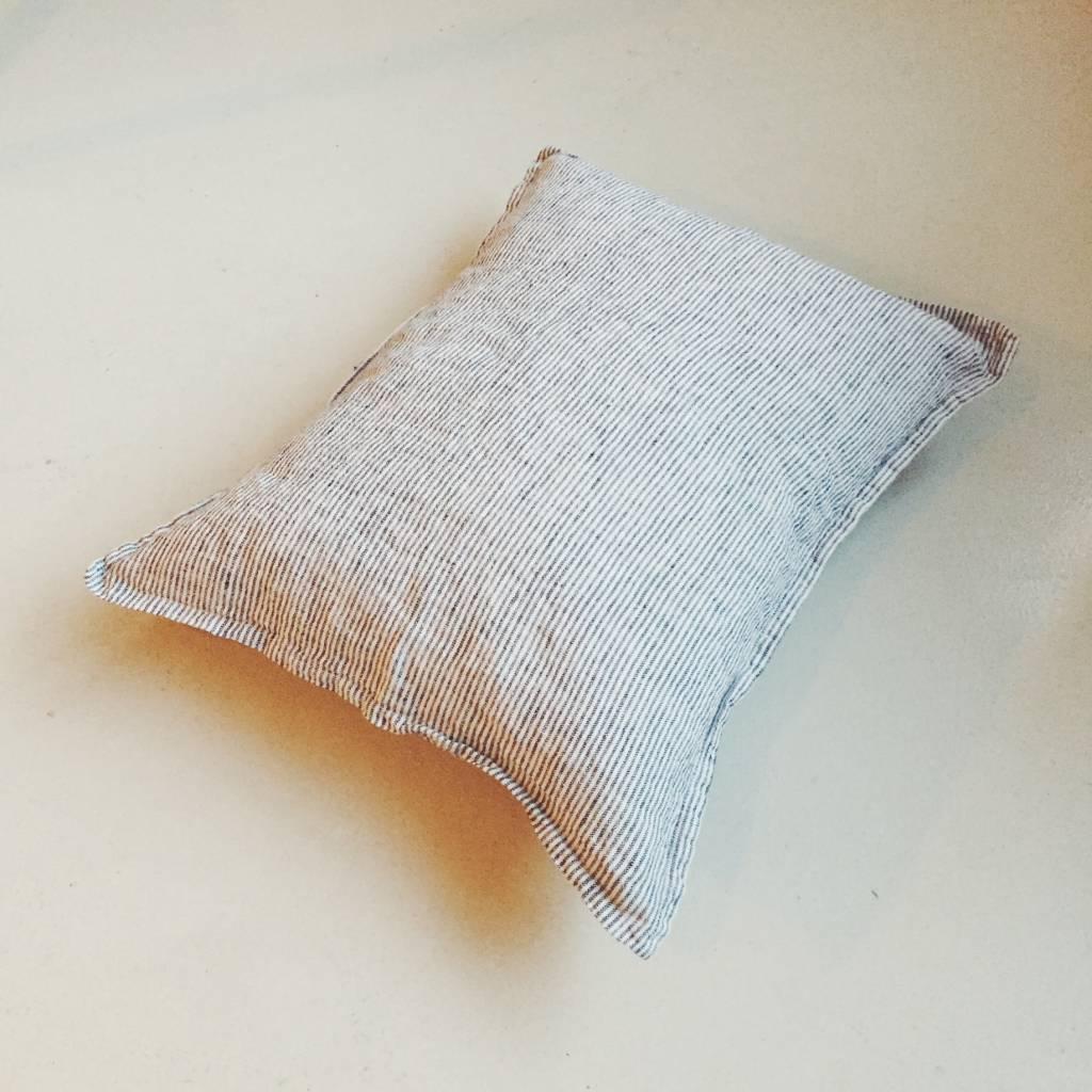 Linge Particulier  Linge Particulier Cushion Cover Stripe Black and White Linen 35x45 cm