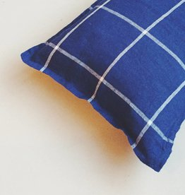 Linge Particulier  Cushion Cover Tartan Blue