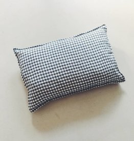 Linge Particulier  Cushion Cover Anthracite Gingham