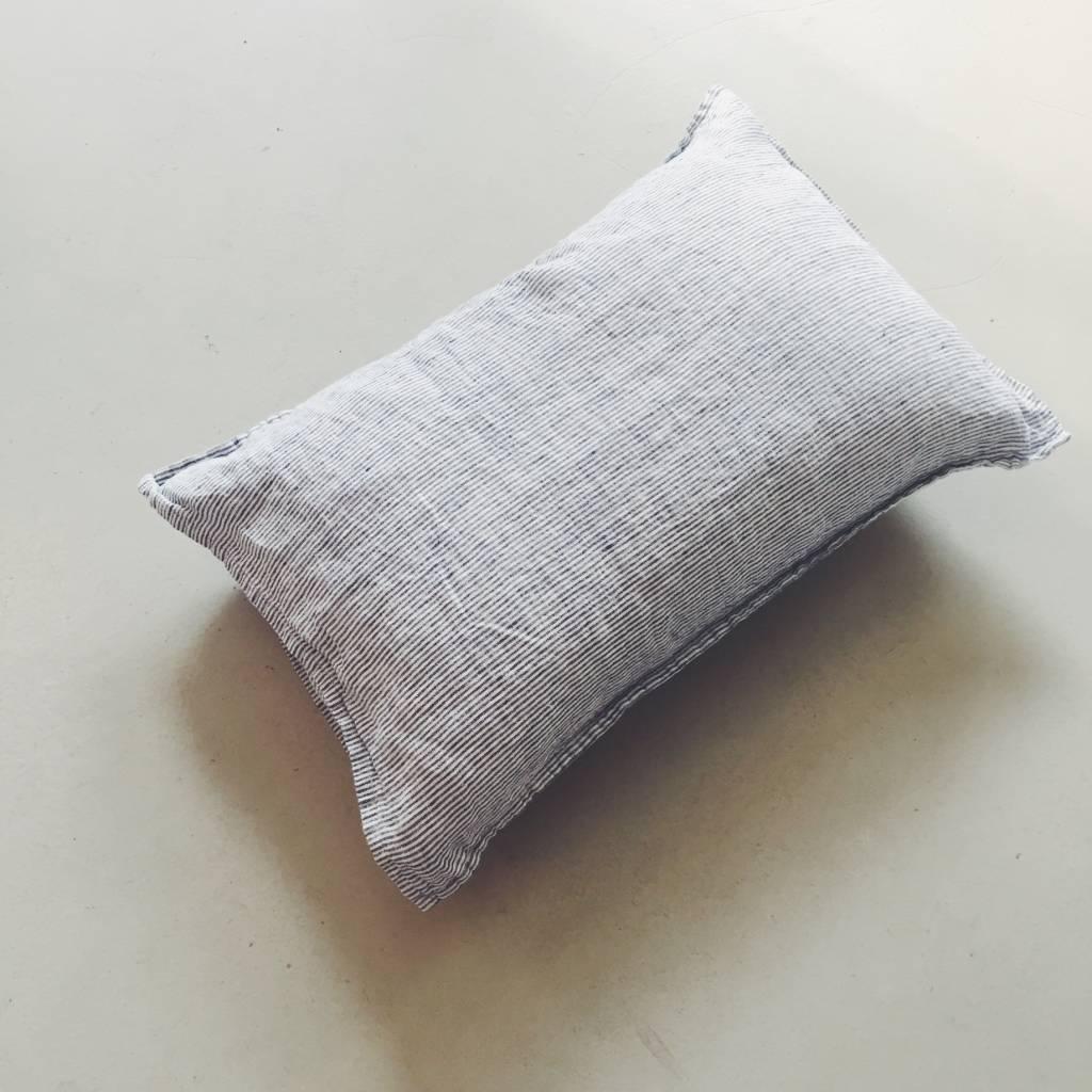 Linge Particulier  Linge Particulier Cushion Cover Navy White Stripe Linen 40 x 60 cm
