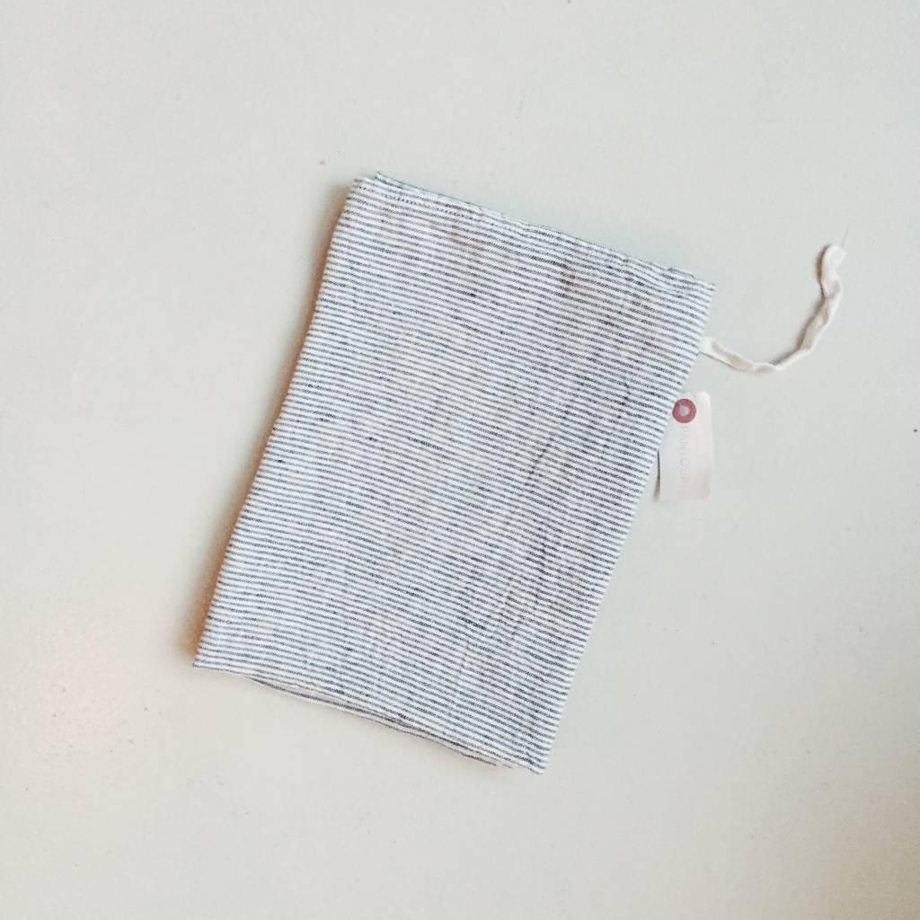 Linge Particulier  Linge Particulier White & Blue Atlantic Stripe Dishtowel / Apron 55 x 80 cm