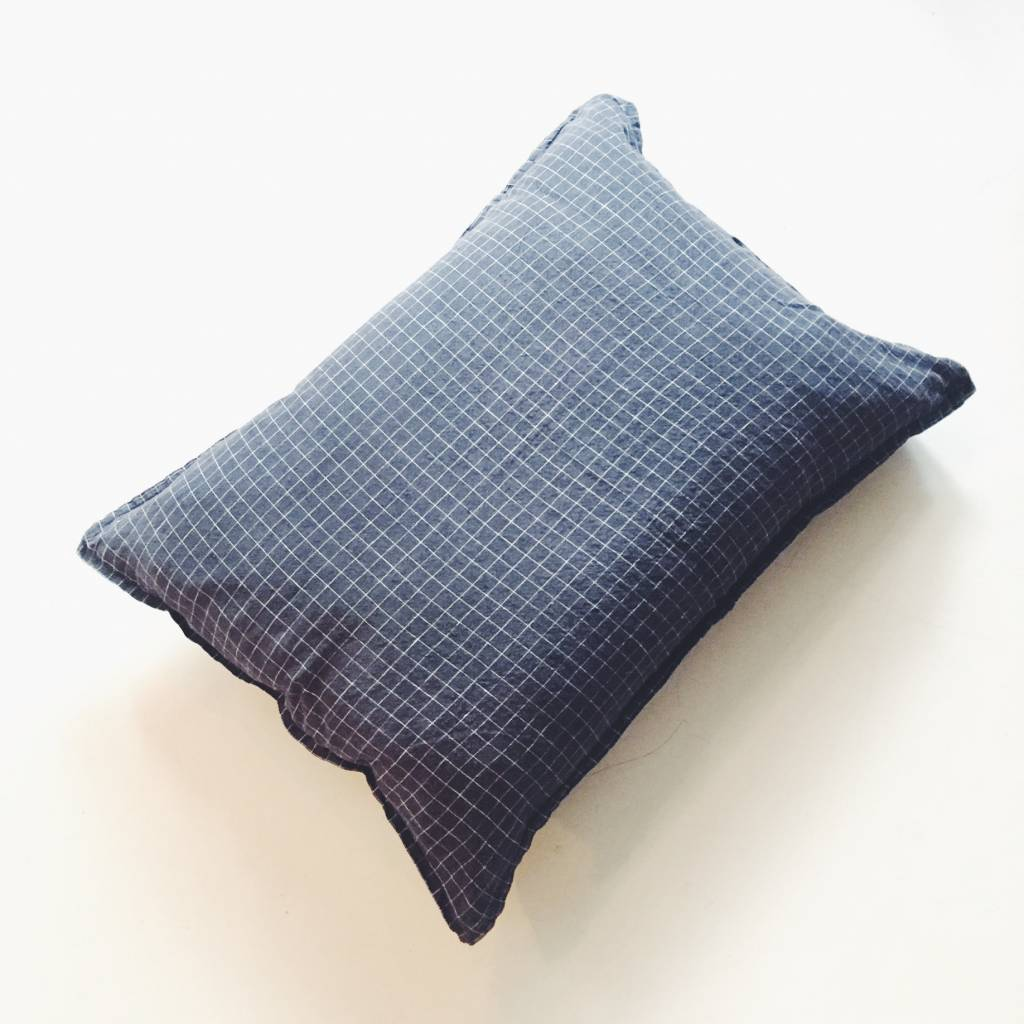 Linge Particulier  Linge Particulier Cushion Black & White Washed Linen 50 x 70 cm