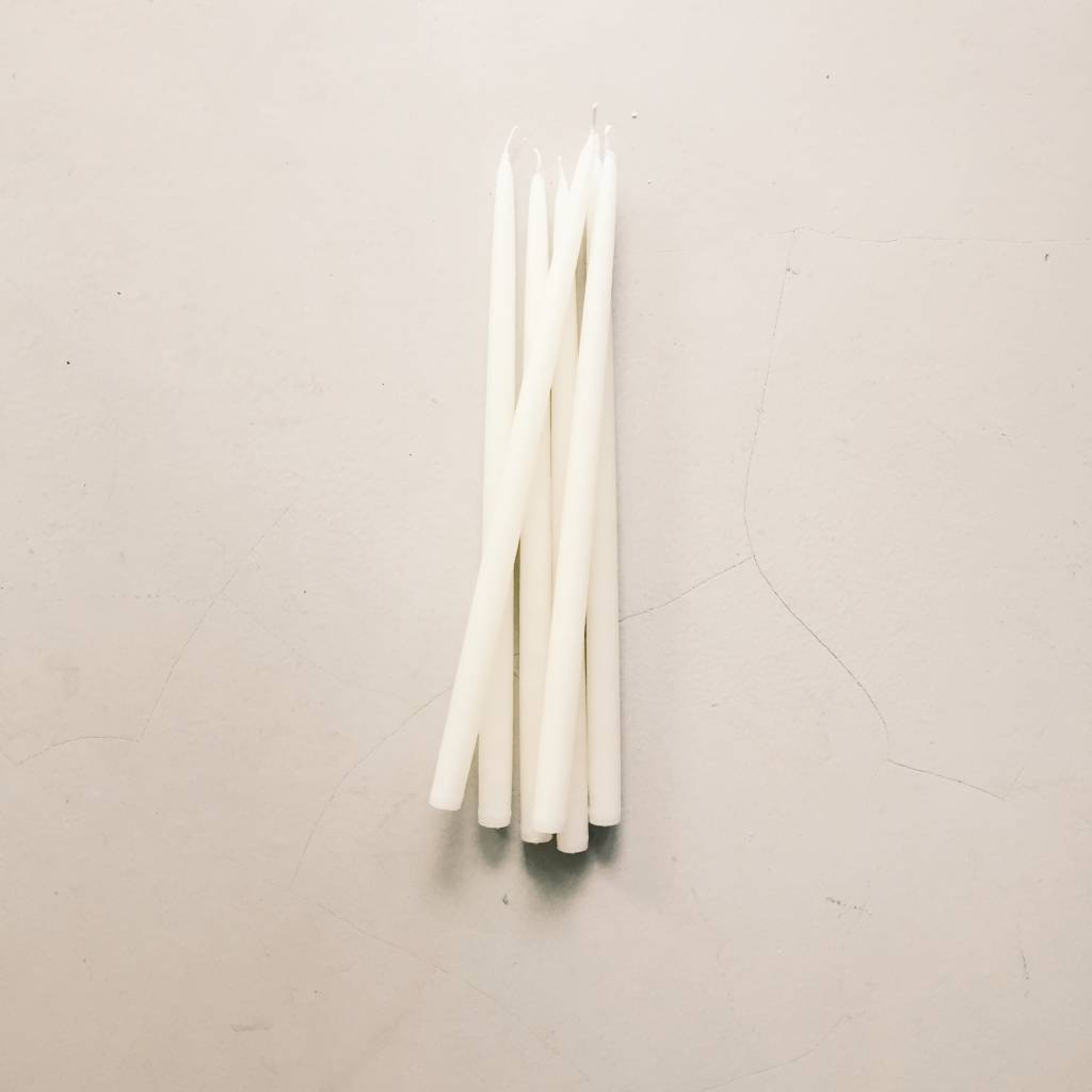 Extra Long Taper Natural Candles set of 2