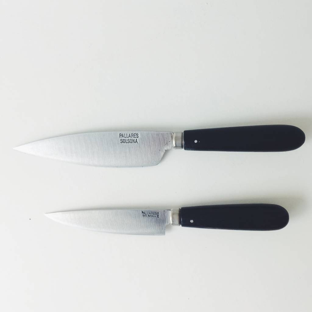 Pallarès Solsona Pallarès Solsona Handmade Carbon Steel & Ebony wood Kitchen Knife