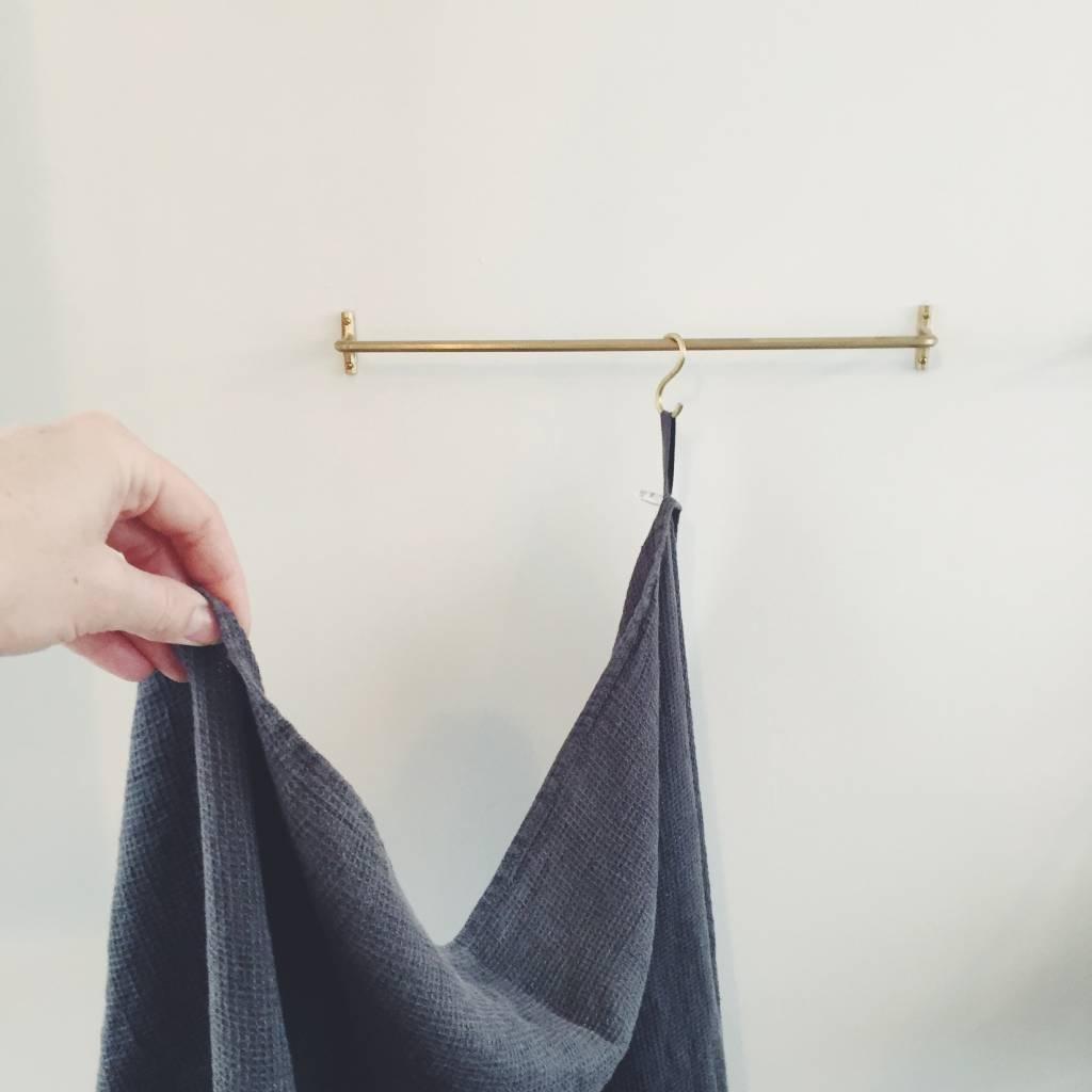 Linge Particulier  Towel Storm Grey Washed Linen 100 x 160 cm