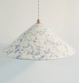 Splatterware Grey on Cream Pendant Lamp