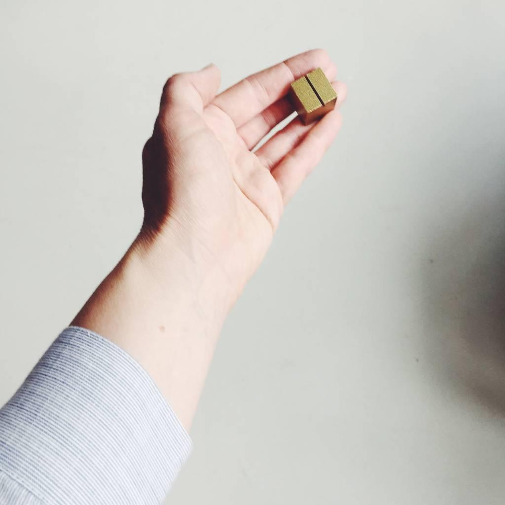Pantoufle Brass Card Holder