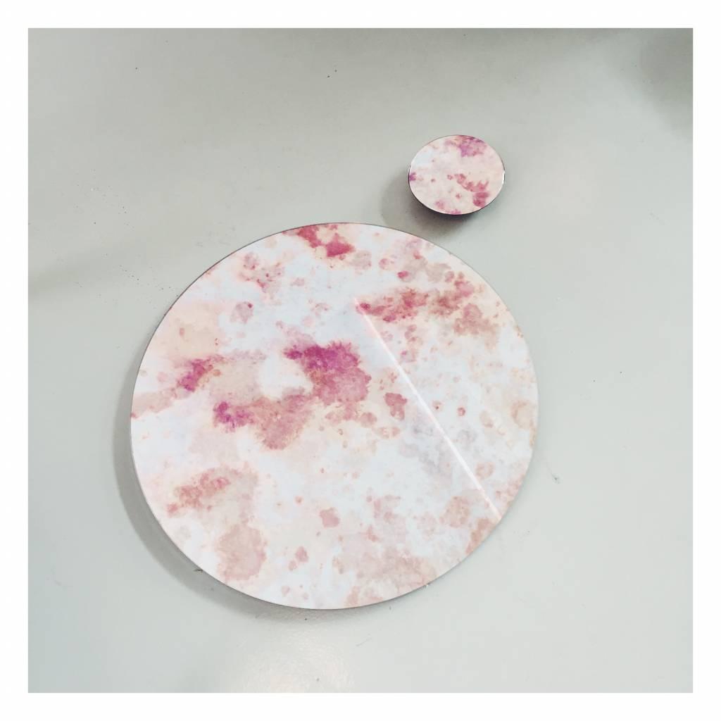 Antique Mirror Antique Pink Cloud Mirror Ø 600 mm