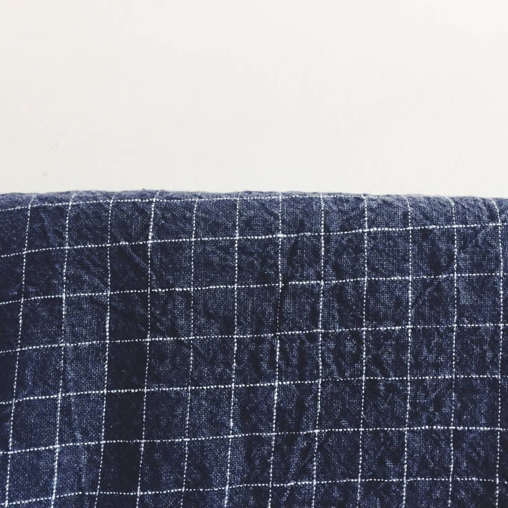 Linge Particulier  Linge Particulier Tablecloth Black and White Check Washed Linen 160 x 300 cm