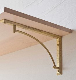 Futagami Brass Curved Shelf Bracket (set of 2)