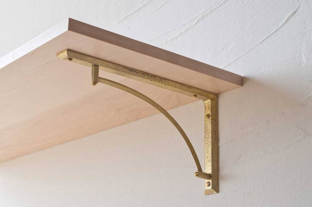 Futagami Futagami Matureware Brass Curved Shelf Bracket L (set of 2)