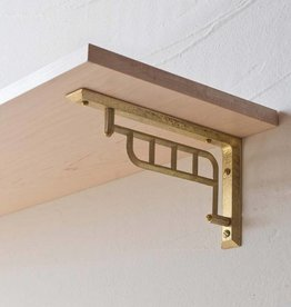 Futagami Brass Slotted Shelf Bracket (set of 2)