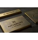 Futagami Futagami Matureware Square Brass Nameplate