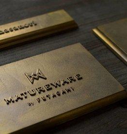 Futagami Square Brass Nameplate