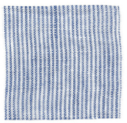 Linge Particulier  Linge Particulier Medium Bag Blue thin Stripe Washed Linen