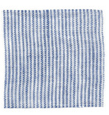 Linge Particulier  Linge Particulier Cushion Cover Blue Thin Stripe Washed Linen 35 x 45 cm