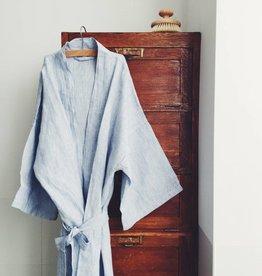 Linge Particulier  Kimono Blue thin Stripe