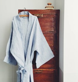 Linge Particulier  LAST TWO ITEMS - Kimono Blue thin Stripe