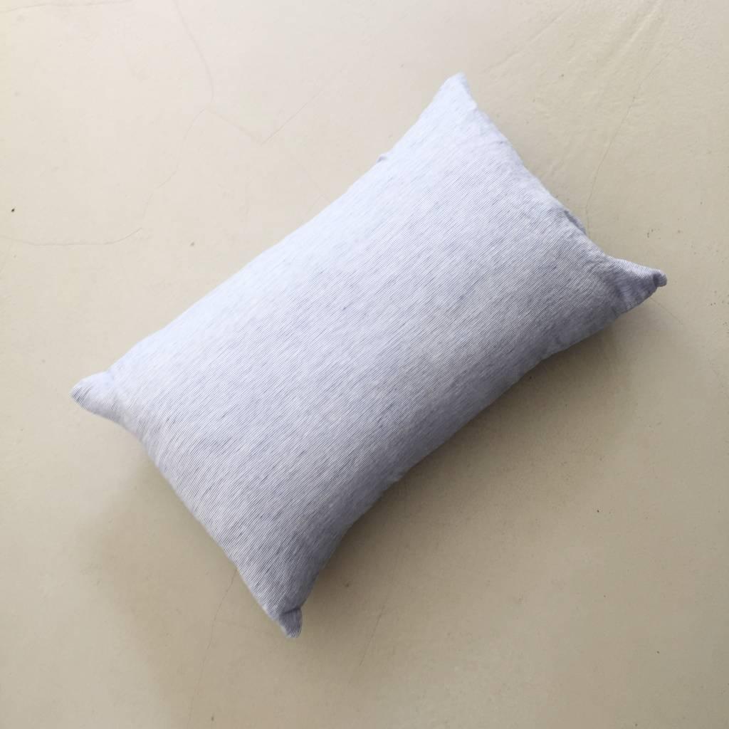 Linge Particulier  Linge Particulier Cushion Cover Blue Thin Stripe Linen 40 x 60 cm