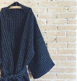 Linge Particulier  Kimono Black Check