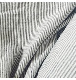 Black and White striped Linen/Cotton Fabric