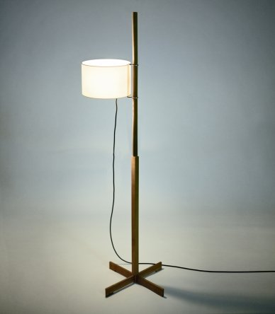 Santa Cole Santa Cole TMM Wooden Floor Lamp