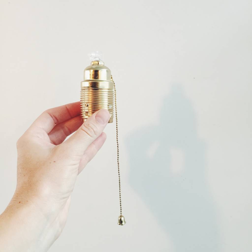 Brass E27 Lampholder / Socket with pull switch