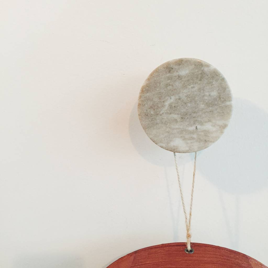 Nordstjerne Brown Marble Coat Hook 9 cm