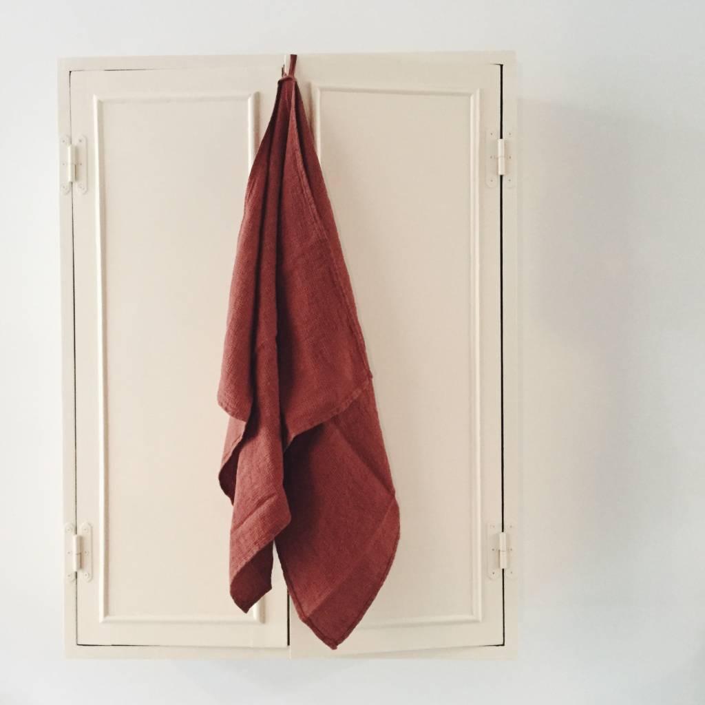 Linge Particulier  Linge Particulier Towel / Swaddle Brique Washed Linen 60 x 100 cm