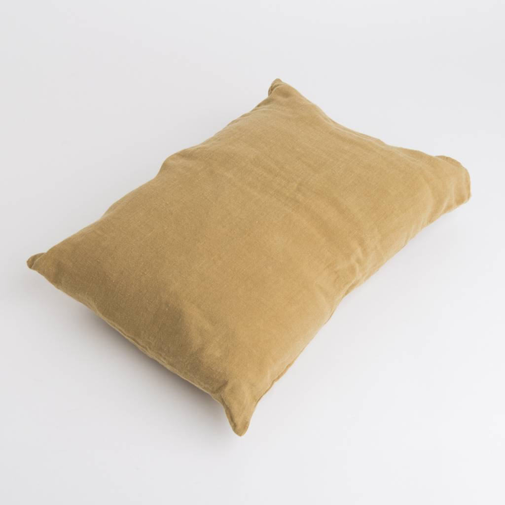 Linge Particulier  Linge Particulier Cushion Cover Curry Washed Linen 50 x 70 cm
