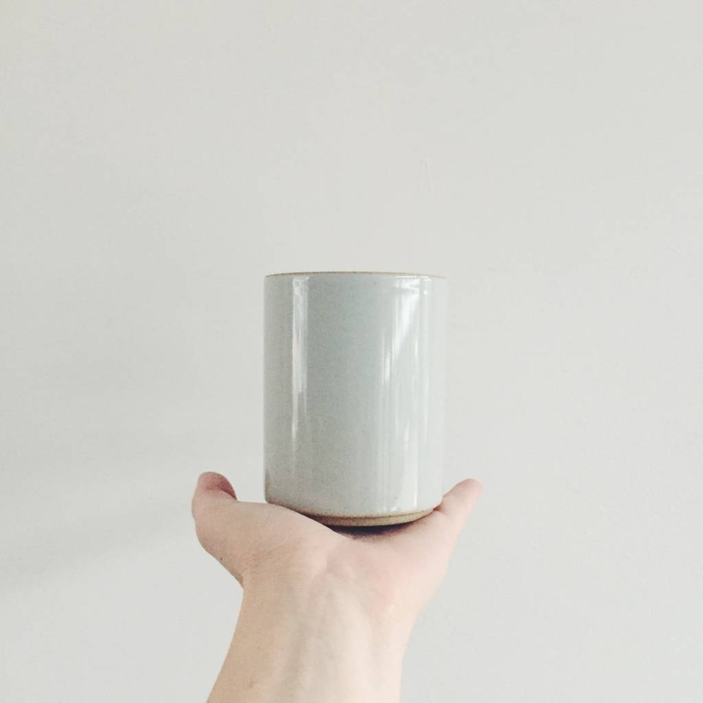Hasami Porcelain Hasami Porcelain large cup / utensil holder with clear glaze