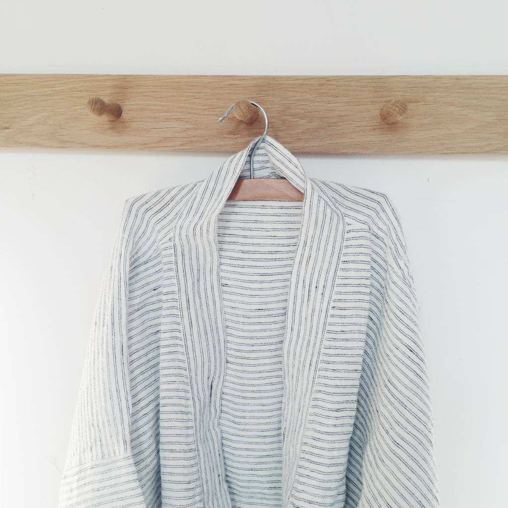 Linge Particulier  Linge Particulier Kimono Pyama Stripe Washed Linen Medium