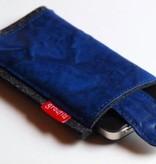 Smartphonetasche mit Verschlußlasche - blau