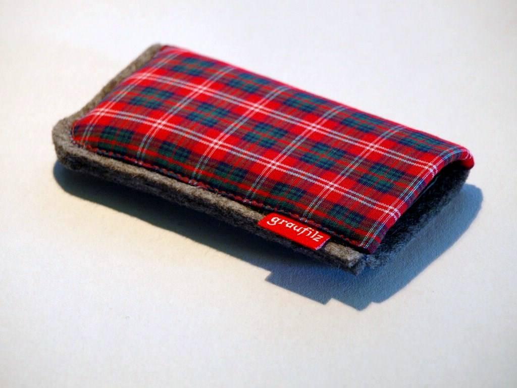 Smartphone Tasche rot kariert