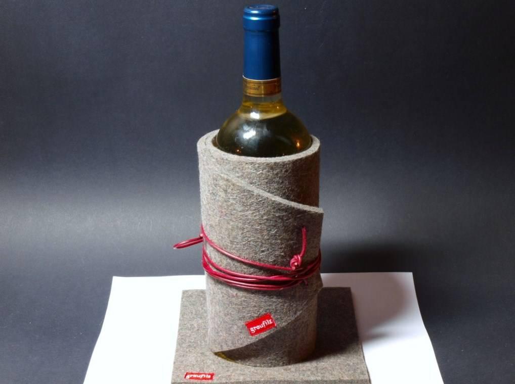 Flaschenkühler aus Wollfilz