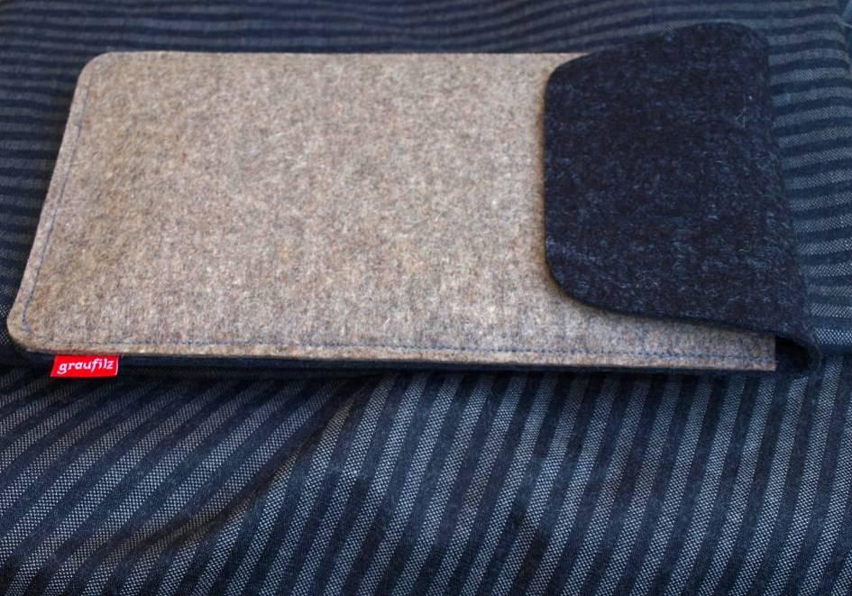 Hülle aus Wollfilz für Tablets