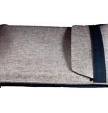 iPad Tasche aus grau natur - meliertem Wollfilz