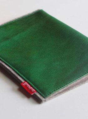 Kindle/eBook Reader Tasche mit grünem Leder