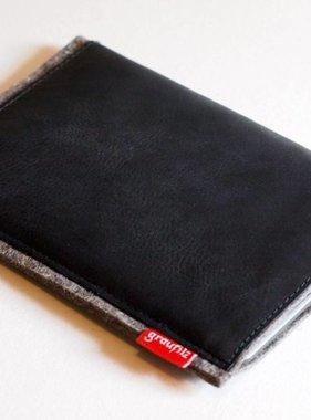Kindle/eBook Reader Tasche mit schwarzem Leder
