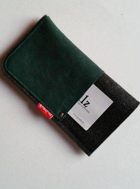 Handytasche - Leder und Filz - racinggreen