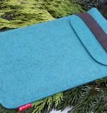 iPad Tasche aus Wollfilz petrol