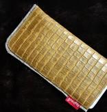Smartphone Tasche mit Kalbsleder in Krokooptik
