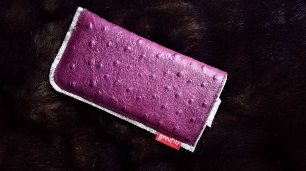 Smartphone Tasche berry mit Verschluß